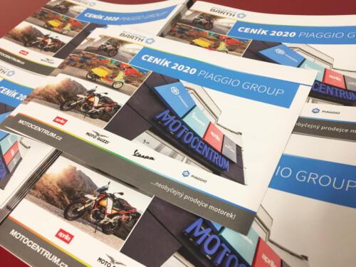 Ceník Piaggio group 2020 A5 210x148mm pro Motocentrum BARTH