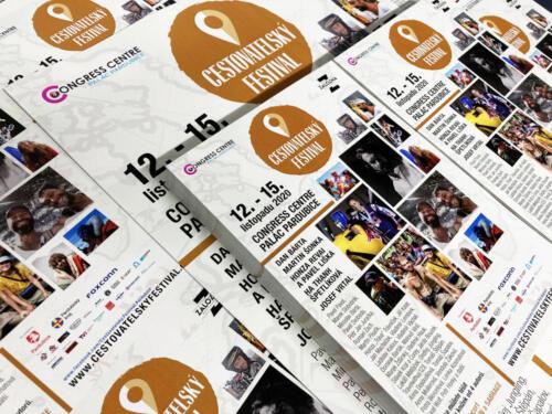 Letáky A5, A4 s programem - Cestovatelský Festival Pardubice 2020