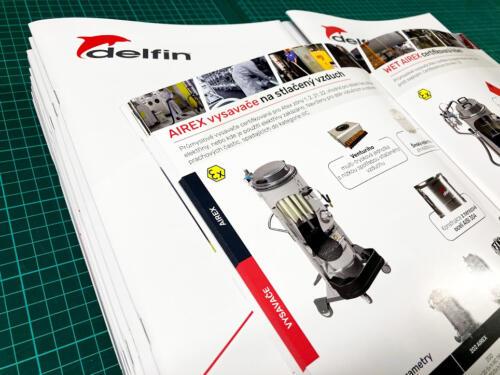 Delfin Katalog 2021 CZE průmyslové vysavače ve formátu A4 60 stran