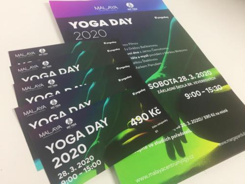 Vstupenky DL a Plakáty A3 pro YOGA DAY Pardubice