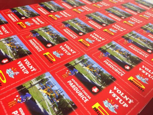 Číslované kartičky na Koupaliště Pardubice