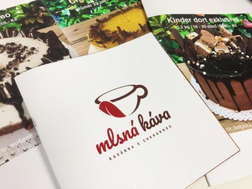 Dortové brožurky plné nejkrásnějších a lahodných dortů z Mlsná káva Karlovina Pardubice.