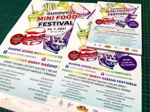 Letáky a plakáty > Duhový MINI FOOD festival na Duhovém jezeře v Moravanech
