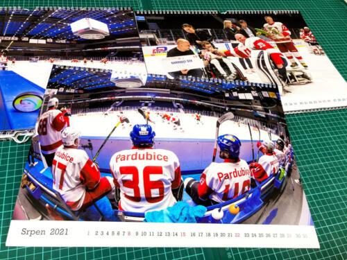 Kalendář A3 Benefičního utkání hokeje Naděje pro Elišku