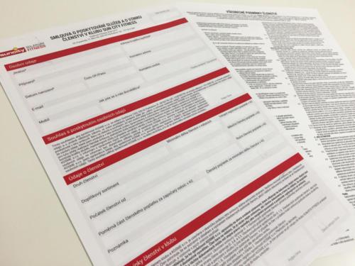 Samopropisovací formuláře velikosti A4 pro Sun City Pardubice