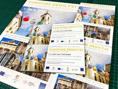 Evropske dedictvi pro Informační centrum Pardubice - Plakáty A1, A2, A3, Letáky A5 a DL