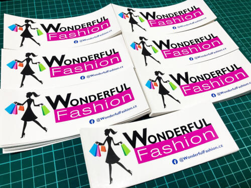 Samolepky papírové na balíčky Wonderful Fashion